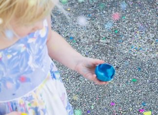 Confetti eggs are a fun Easter activity.