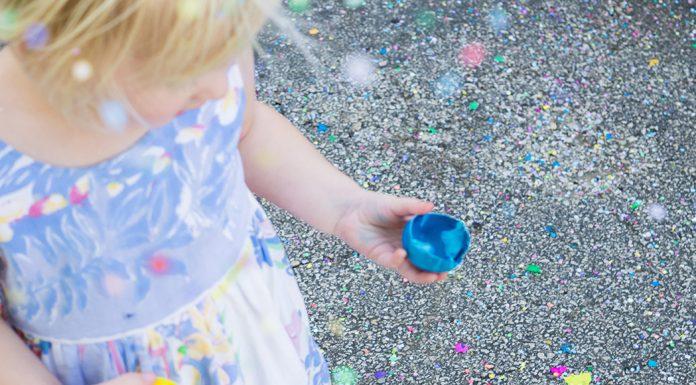 Confetti eggs are a fun Easter activity.