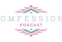 Momfessions Podcast logo, a Fort Worth Moms production, celebrates one year and releases new logo.