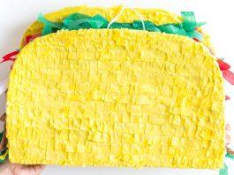 decorate with taco pinatas on Cinco de mayo