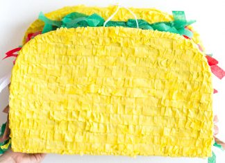 decorate with taco pinatas on Cinco de mayo