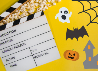 Watch Halloween movies with your kids.