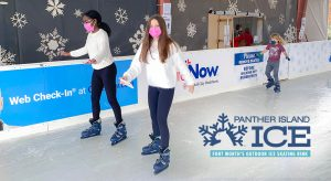 Friends and family can ice skate in safety at Panther Island Ice in Fort Worth.