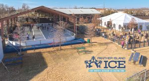 Families in North Texas can ice skate at Panther Island Ice.