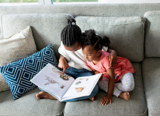 Read books that show images of Black children in a positive light.