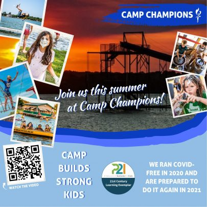 Kids can attend Camp Champions this summer.