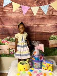My favorite thing is to take Easter pictures of my daughter.