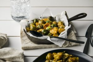 Pioneer recipe for brussel sprouts with cider gravy
