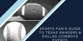 Fort Worth Moms Guide to Dallas Cowboys and Texas Rangers sports events.
