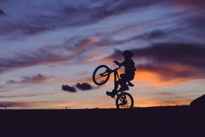 Wear a helmet on bike rides.