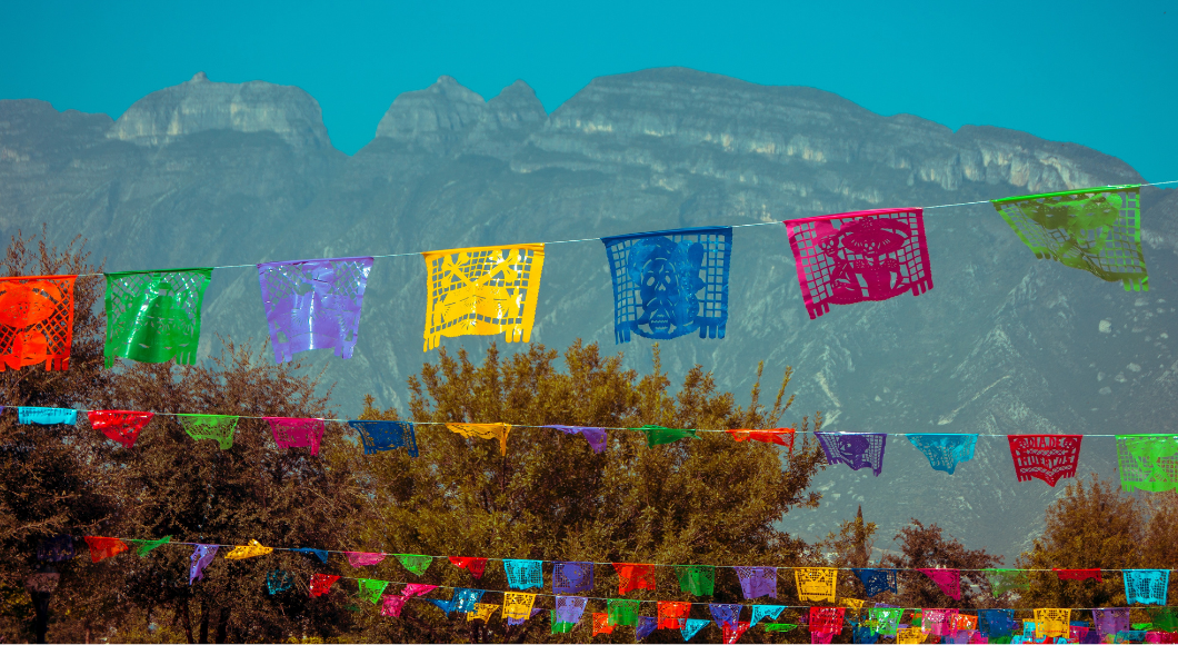 flying papel picada