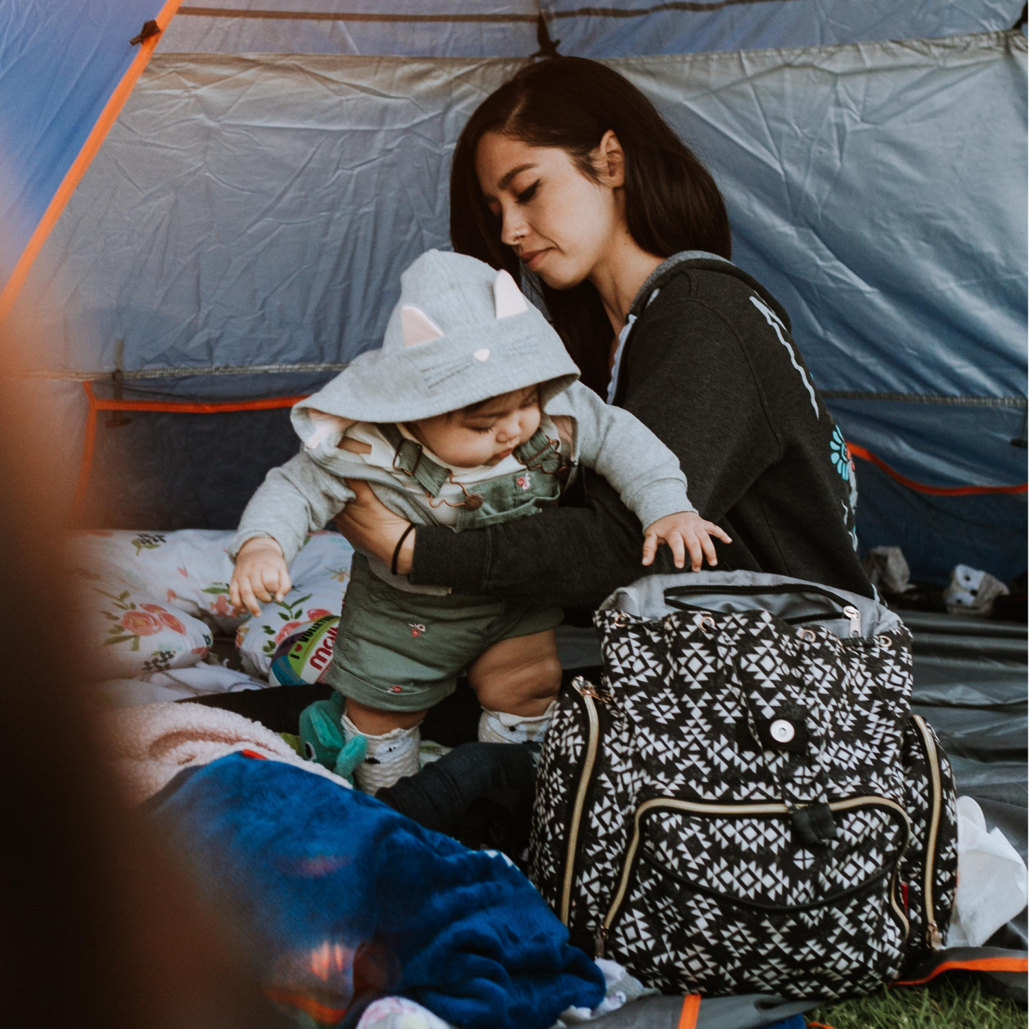 Find a stylish, functional diaper bag.