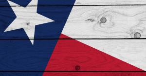 Texas state flag painted on wood