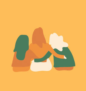 Having a shoulder to lean on helps lonliness