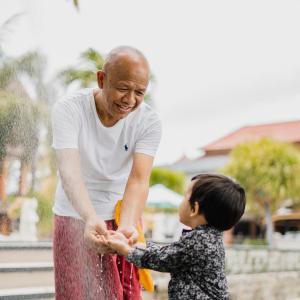 Cherish time with grandparents.