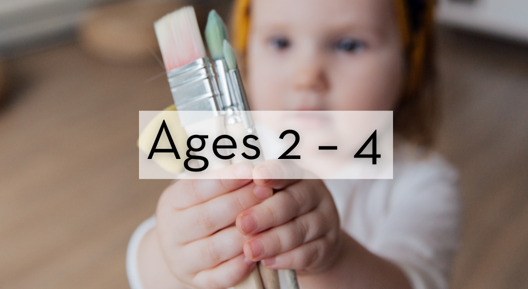 Community service and volunteer ideas for kids ages two to four years old.